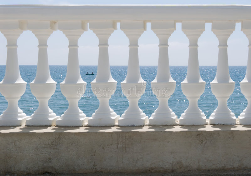 Download White balustrade stock photo. Image of white, background - 9035024