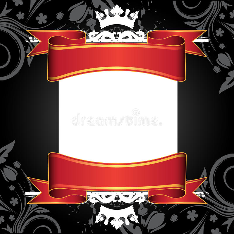 Download White banner and ribbons stock vector. Image of badge - 10824655