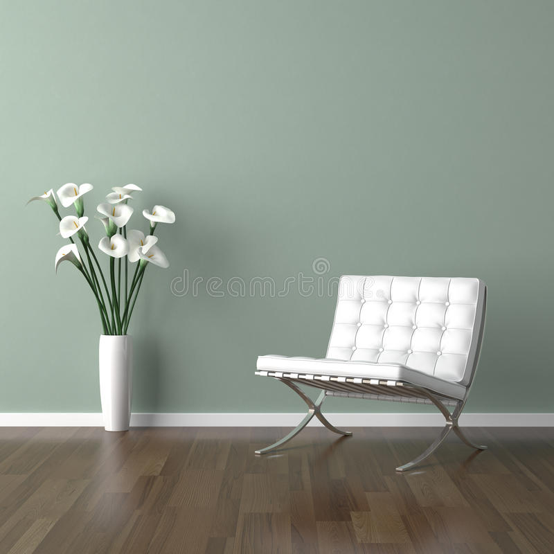 Download White Barcelona Chair On Green Stock Illustration - Illustration of sparse lilly 11299724 & White Barcelona Chair On Green Stock Illustration - Illustration of ...