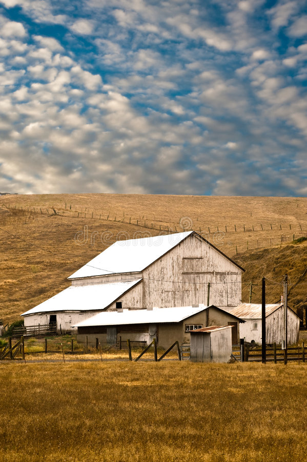 White Barn stock photo