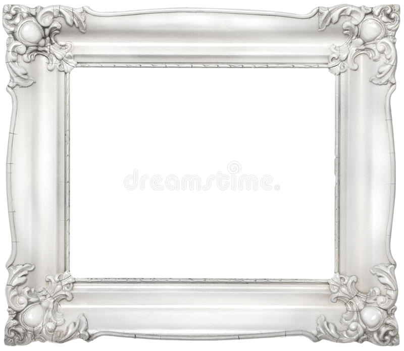 White baroque frame stock image. Image of decorated, custom - 21882533