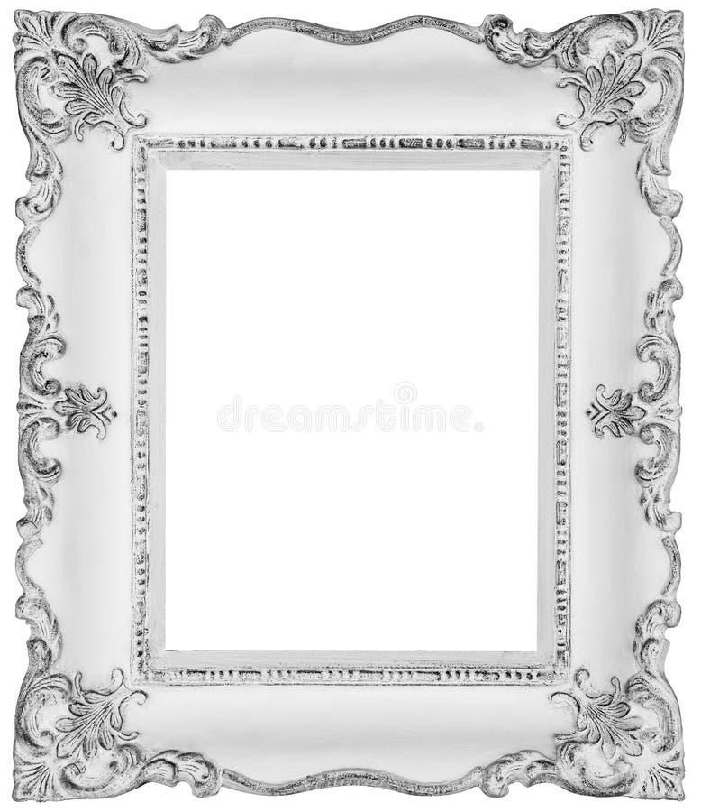White baroque frame stock image. Image of elegant, background - 42472089