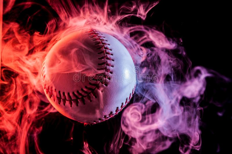 White baseball ball stock image