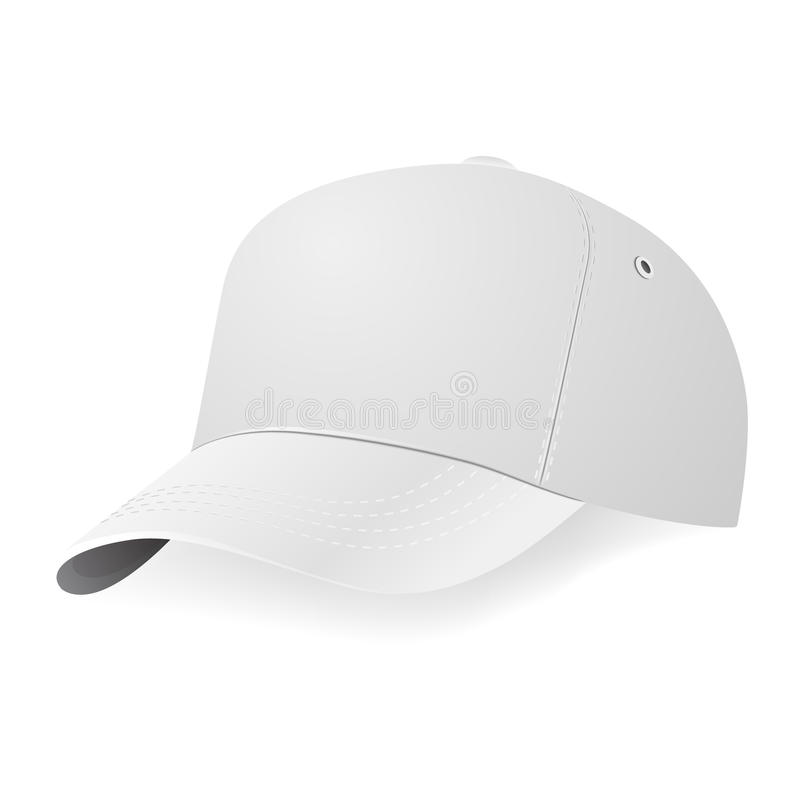 white baseball cap template stock vector illustration of design ball 51485540. Black Bedroom Furniture Sets. Home Design Ideas