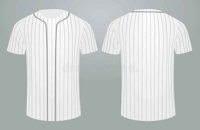 White baseball shirt. Vector illustration stock illustration
