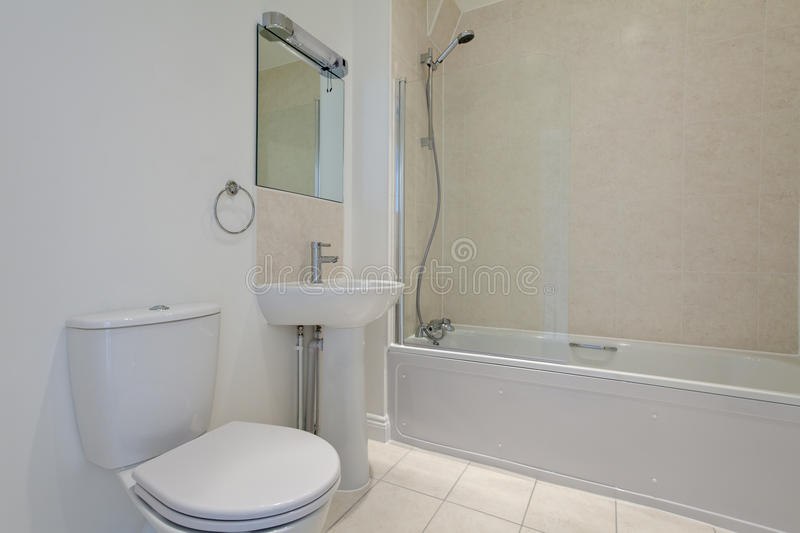 Download White Bathroom Suite Stock Image. Image Of Bath, Shower   23278019