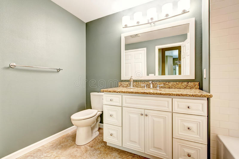 White Bathroom Vanity Cabinet With Granite Top Stock Photo Image Of White Indoor 44208974