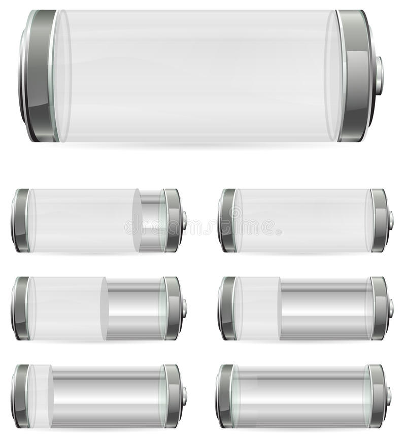 Download White battery stock vector. Image of metal, lightning - 19203502