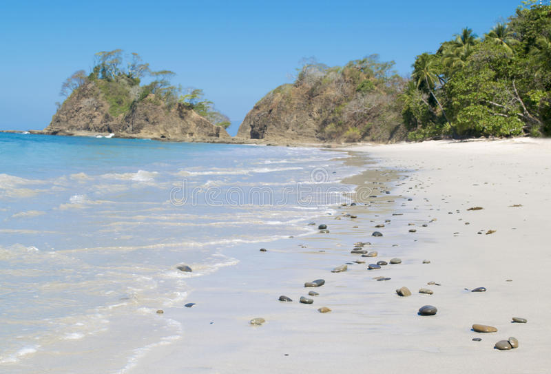 White Beach of Costa Rica stock photos