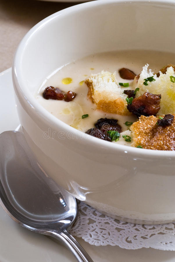 White Bean Soup Stock Photo