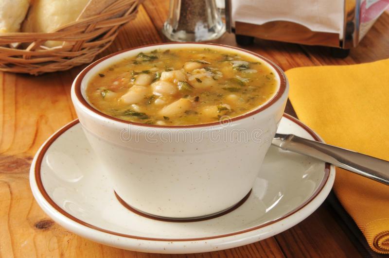 White bean soup stock images