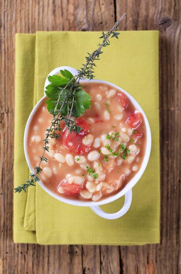 White bean stew royalty free stock photos