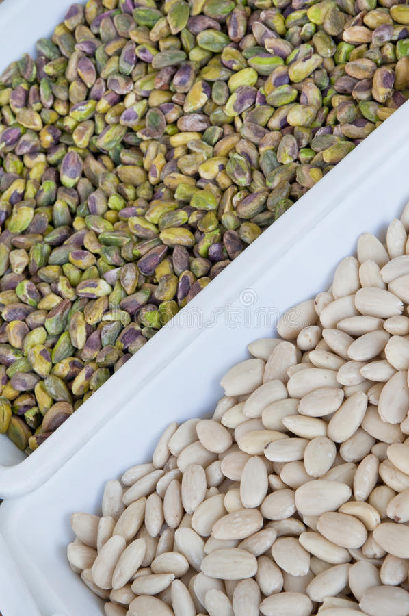 White Beans and Pistachio stock image