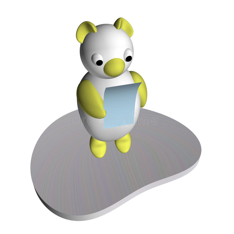 Download The White She-bear On An Ice Floe Reads The Letter Stock Illustration - Image: 15516877