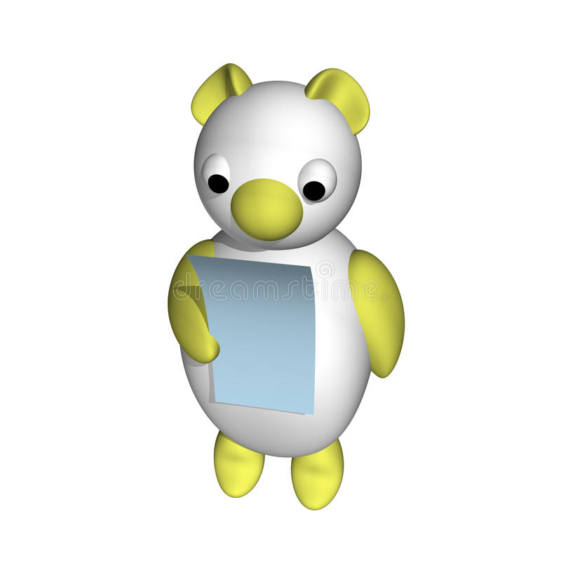 Download The White She-bear Reads The Letter, 3d Stock Illustration - Image: 15516882