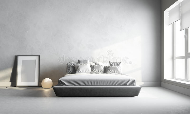 White bedroom stock images