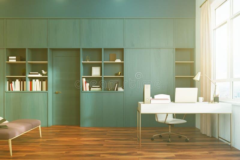 Download White Bedroom And Home Office Interior Side Toned Stock  Illustration   Illustration Of Desk,