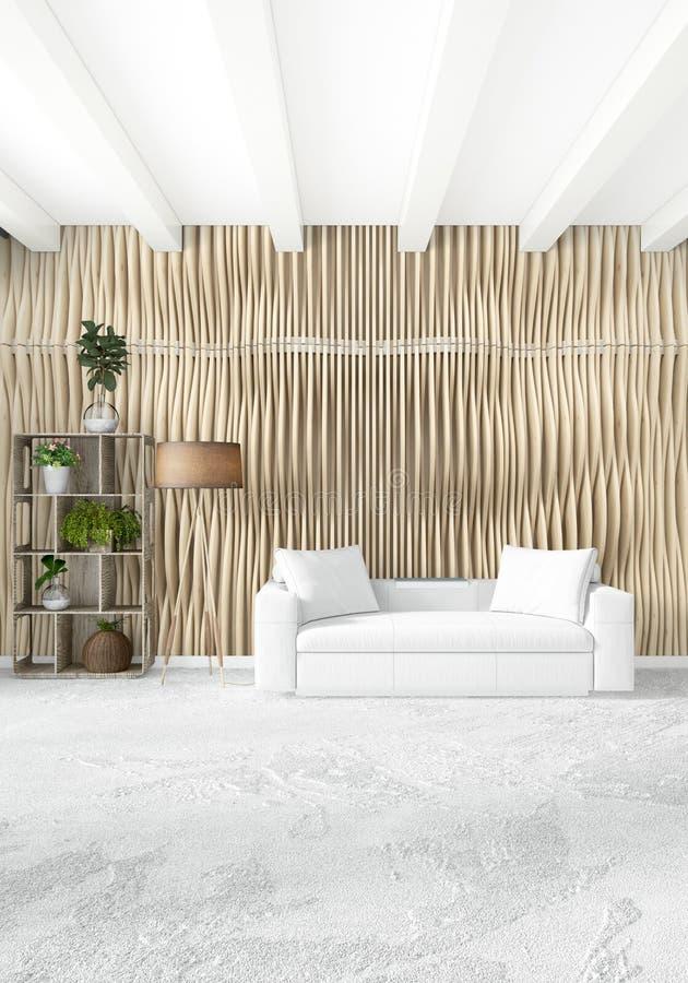 3d Room Interior Design: White Bedroom Or Livingroom Minimal Style Interior Design