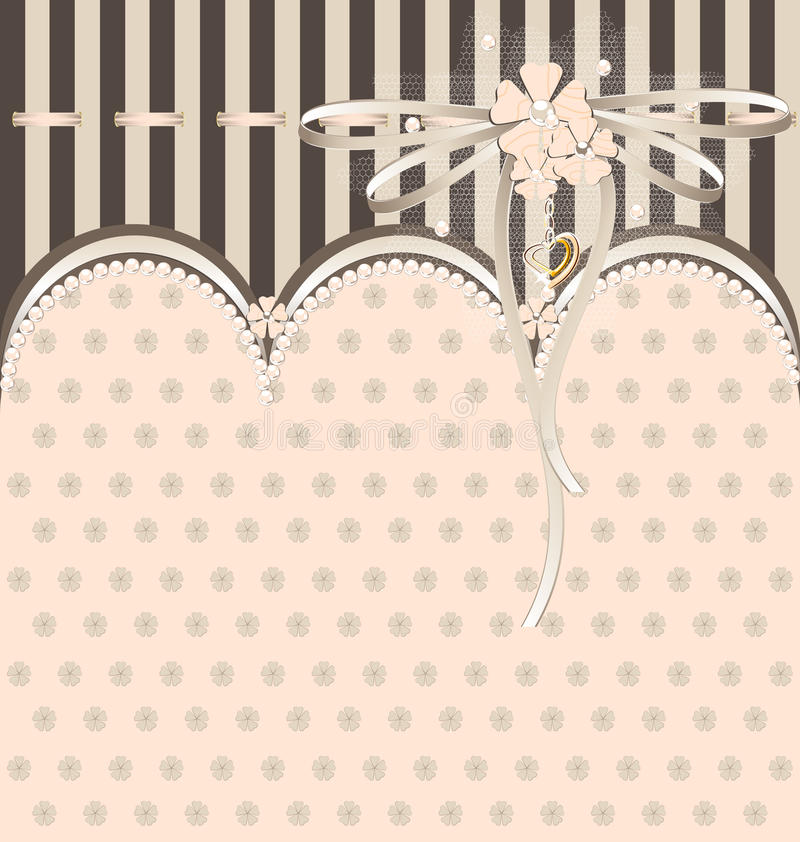 Download White-beige Variation With Ribbon Stock Vector - Image: 20547064