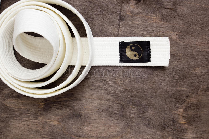 White belt karate stock photos
