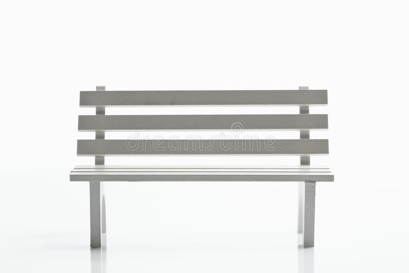 White bench royalty free stock images