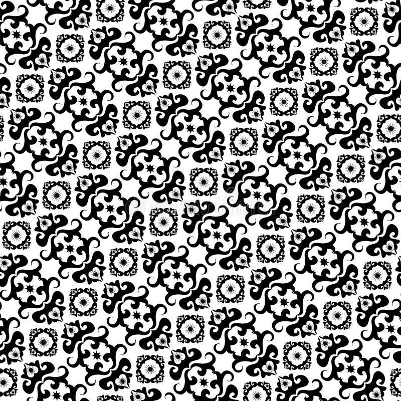 white bezszwowy czarny wzoru ilustracji