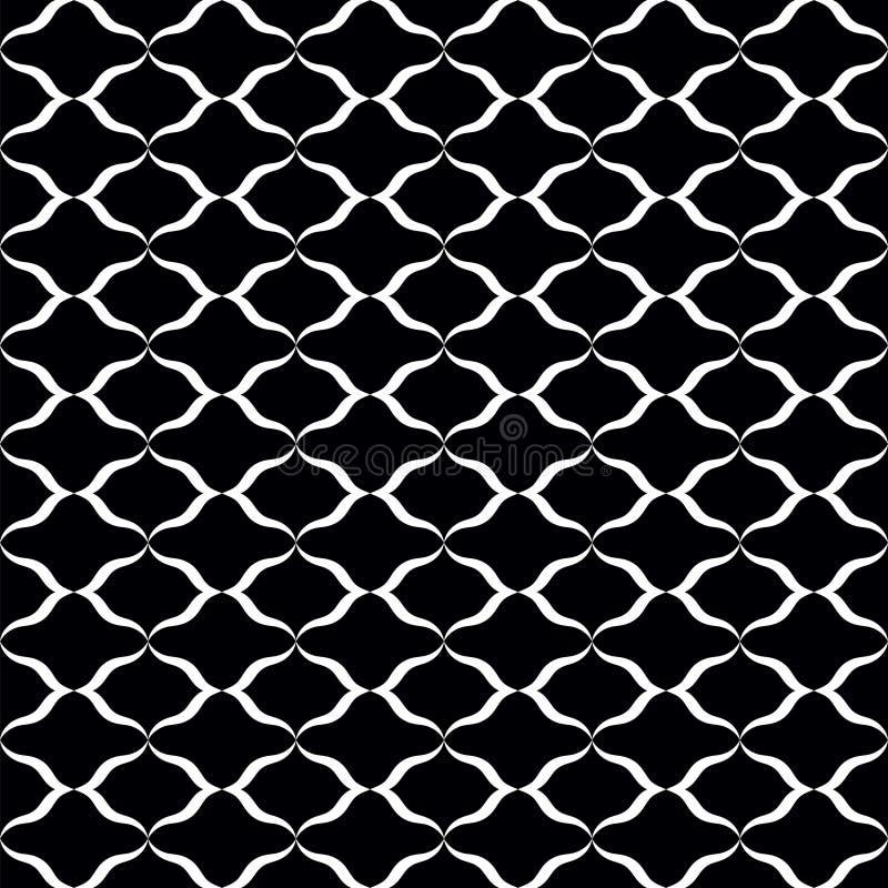 white bezszwowy czarny wzoru ilustracja wektor