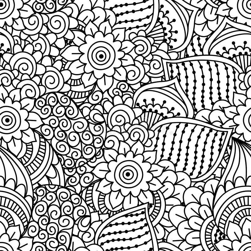 white bezszwowy czarny wzoru royalty ilustracja