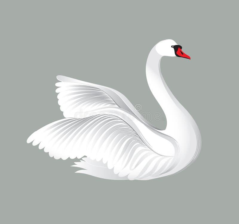 Белый лебедь картинка нарисованная