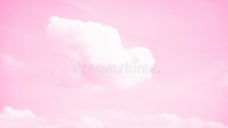 White bird shaped cloud flying in the pink sky. Faith, symbol concept. 16:9 panoramic format. White bird shaped cloud flying in the pink sky. Faith, symbol stock image
