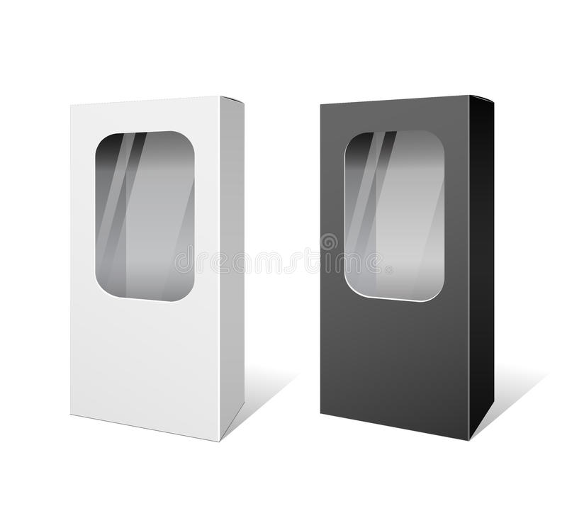 Download White And Black Box Products Package Stock Vector - Image: 32024682