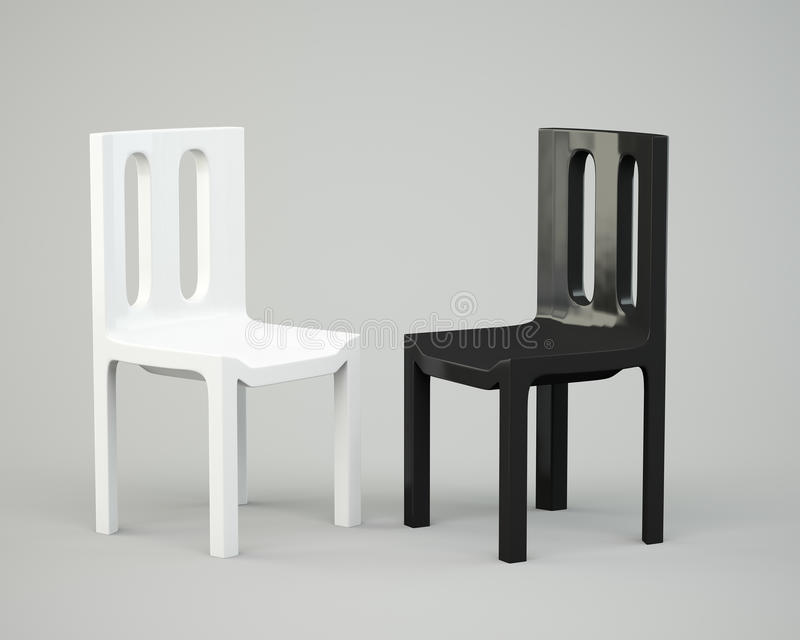 White and black chair royalty free stock images