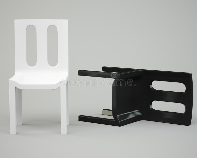 White and black chair stock photography