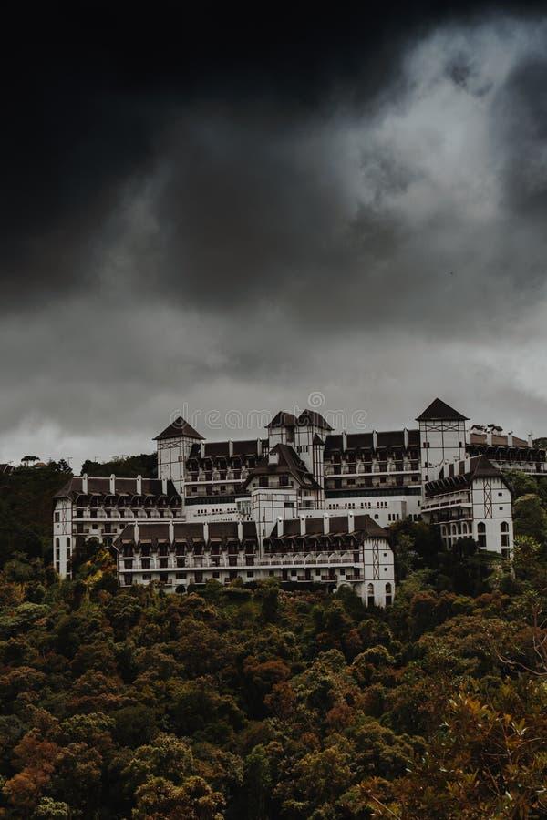White and Black Concrete Castle stock image