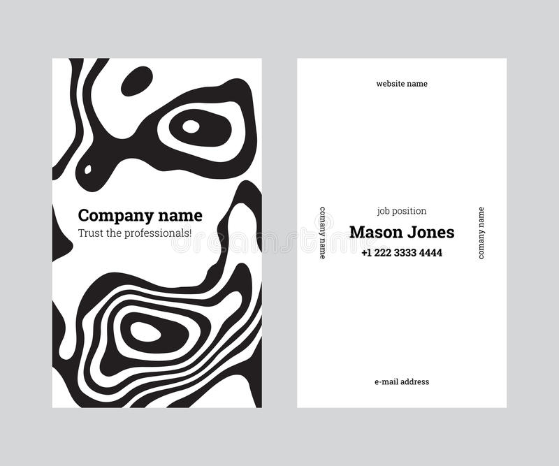 White and black creative business card template royalty free illustration