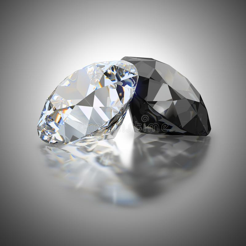White and black diamond royalty free illustration