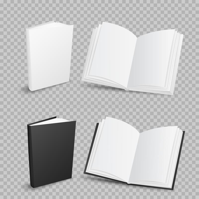 Books on transparent background stock illustration