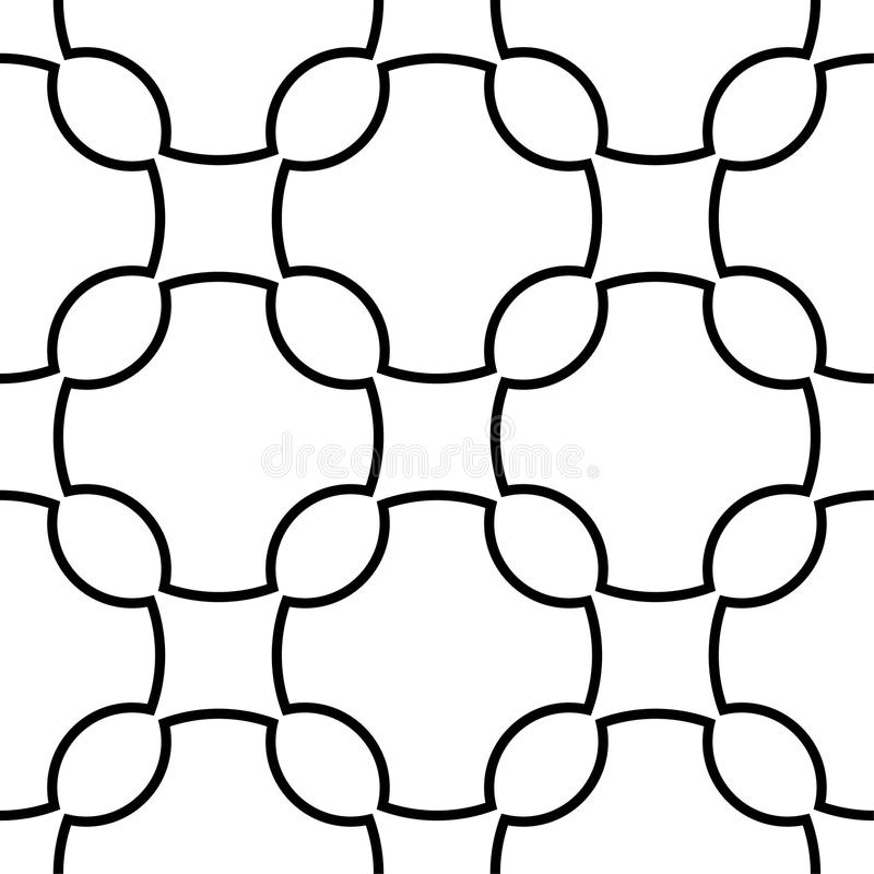 White and black geometric ornament. Seamless pattern stock illustration