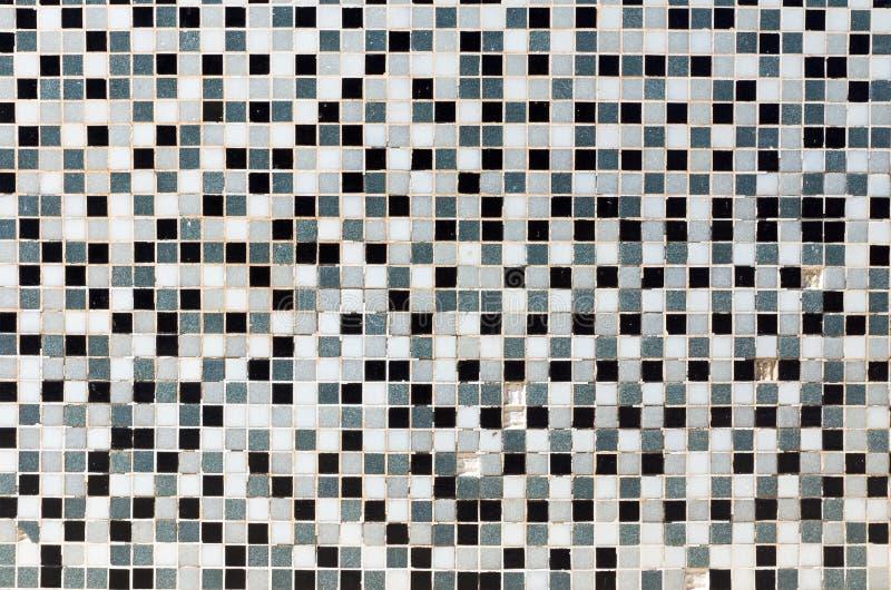 White, black and grey mosaic tiles royalty free stock photos