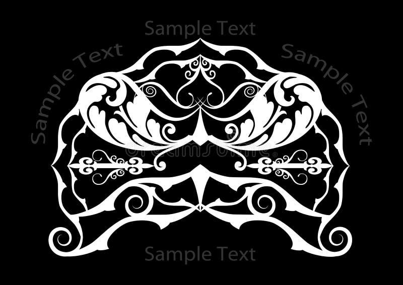 White on black header royalty free stock photos