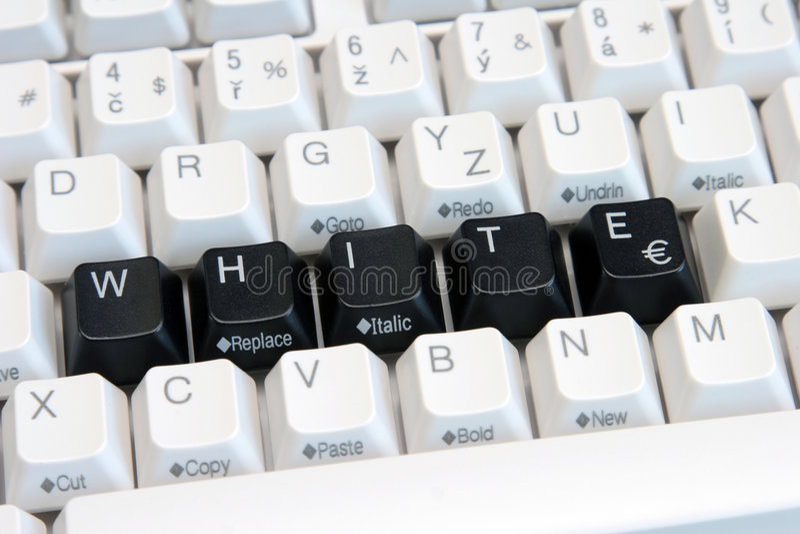 White And Black Keys stock image