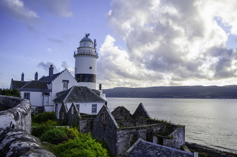 White and Black Lighthouse stock photography