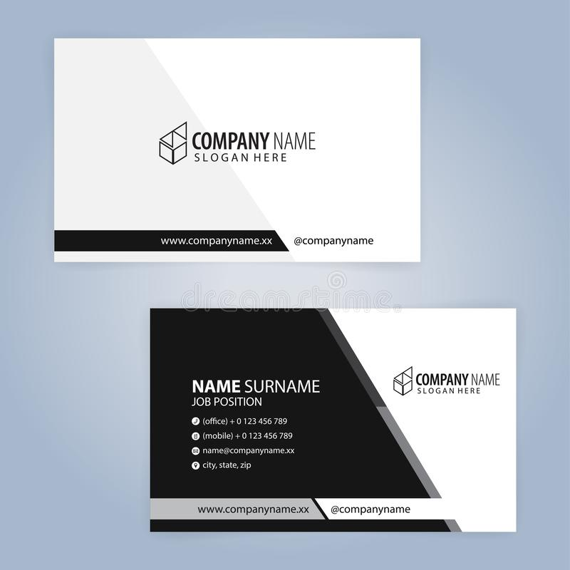 White and Black modern business card template,. Illustration Vector 10 royalty free illustration