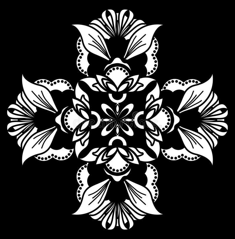 White on black ornament stock photos