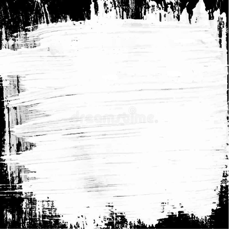 White black painted vector background. Whitewash on a black background stock illustration