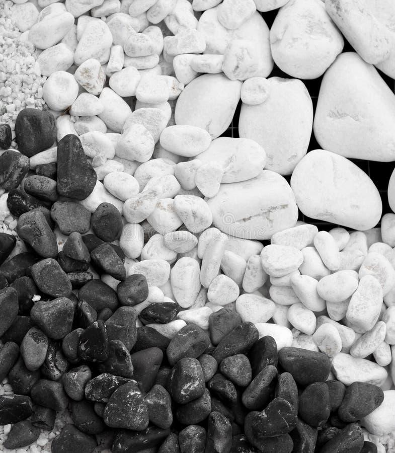 White And Black Pebble Stones Stock Photography
