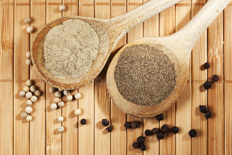 Download White and black pepper stock image. Image of peppercorn - 30448007