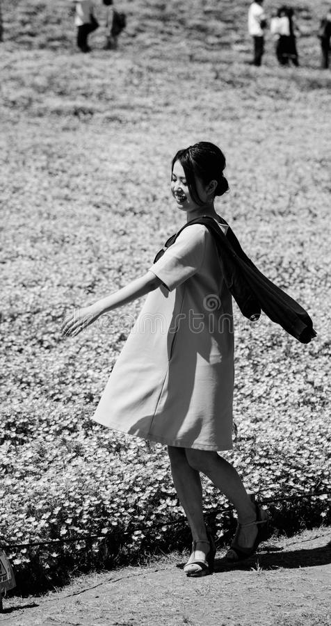 White, Black, Photograph, Woman royalty free stock photography