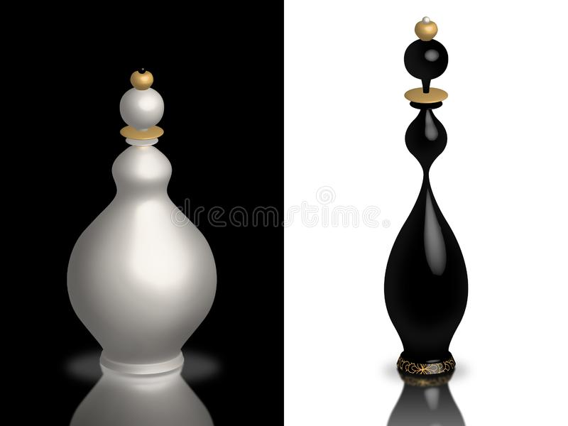 White and black queen royalty free stock image