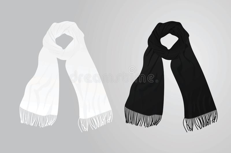 White and black scarf. Vector illustration vector illustration